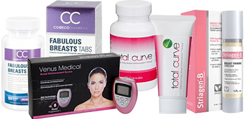 Selection of breast enlargement affiliate products