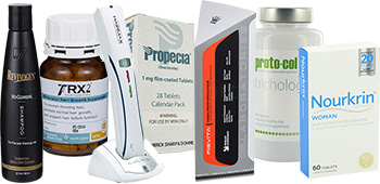 Hair loss affiliate products including Propecia and TRX2